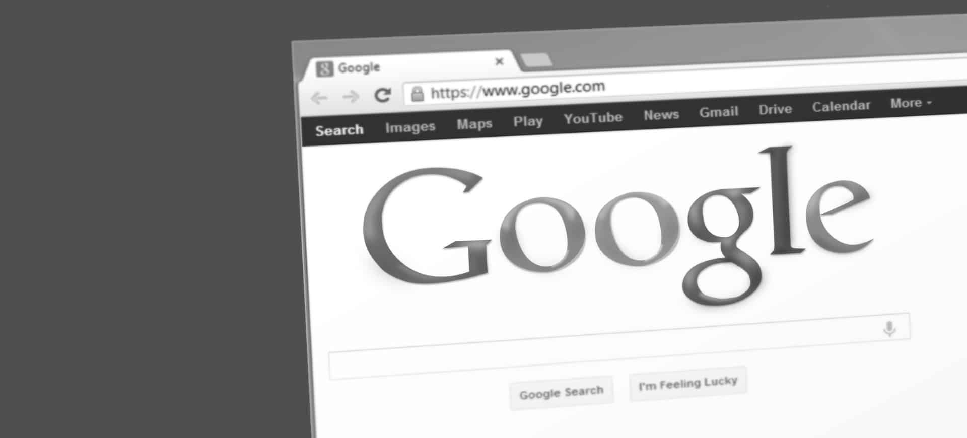 seo audit template free download - Google search engine page on a computer screen